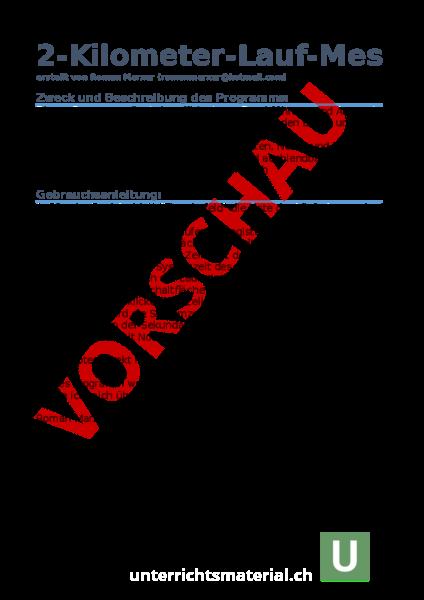 Arbeitsblatt: 2-KILOMETERLAUF-ERFASSUNGSTOOL AUF EXCELBASIS. Version ...