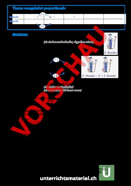 www.unterrichtsmaterial.ch - Mathematik - Satzaufgaben - umgekehrt ...