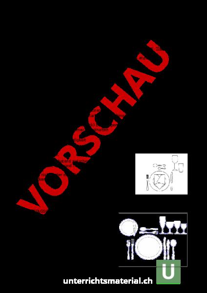 Arbeitsblatt: Tischdecken - Wirtschaft, Arbeit, Haushalt - Anderes Thema