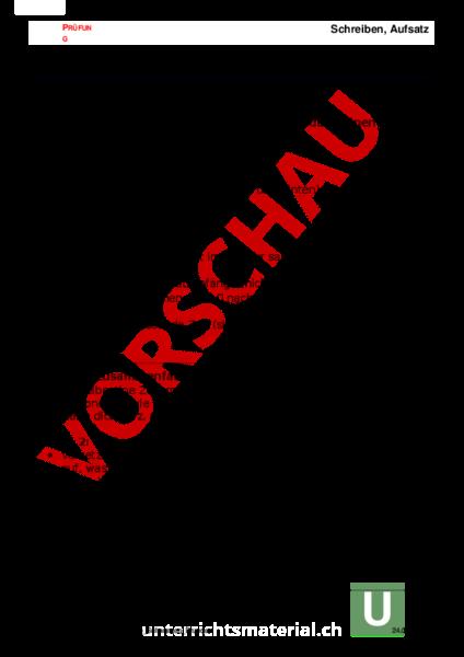 Arbeitsblatt Aufsatz Die Schwarzen Brüder Deutsch Texte Schreiben