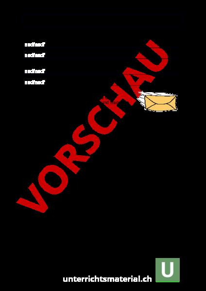 Arbeitsblatt Persönlichersachlicher Brief Deutsch Anderes Thema