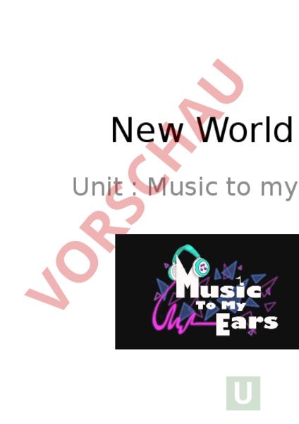 Arbeitsblatt: New world 4 Unit 1 - Englisch - Lehrmittel