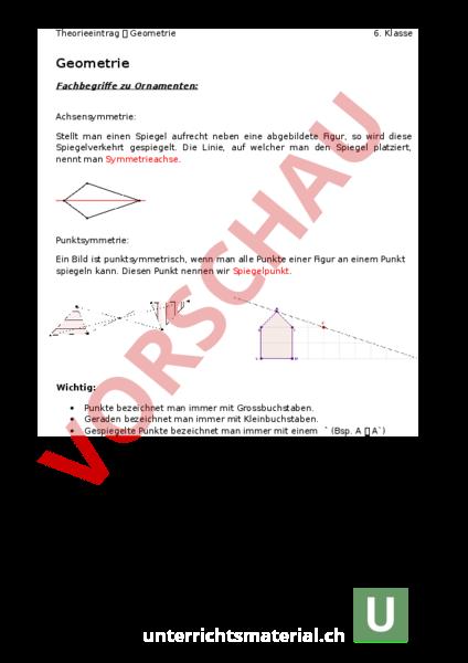 www.unterrichtsmaterial.ch - Geometrie - Gemischte Themen ...