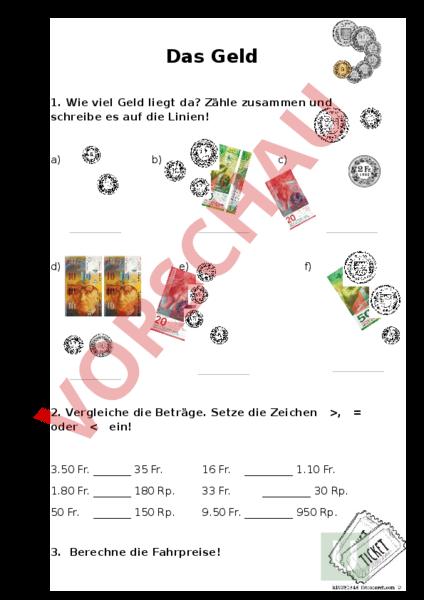 www.unterrichtsmaterial.ch - Mathematik - Sachrechnen / Grössen ...