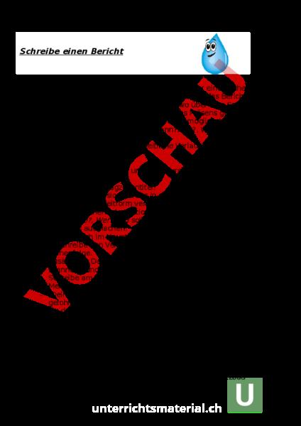 Arbeitsblatt Bericht Schreiben Deutsch Texte Schreiben