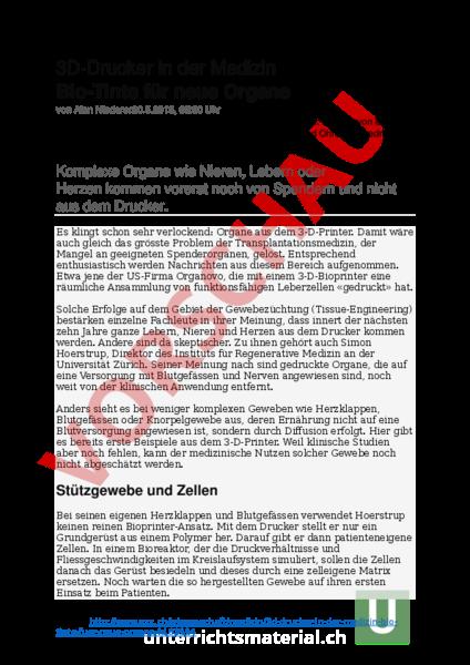 Arbeitsblatt: Textverstehen - Deutsch - Textverständnis