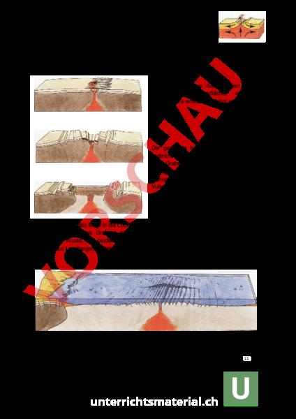 arbeitsblatt vom graben zum ozean geographie geologie tektonik vulkanismus. Black Bedroom Furniture Sets. Home Design Ideas