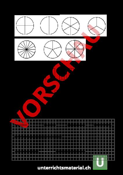 arbeitsblatt kreis rechteck und streckenmodell mathematik br che dezimalzahlen. Black Bedroom Furniture Sets. Home Design Ideas