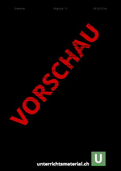 Arbeitsblatt: Present Simple Tense - Englisch - Grammatik