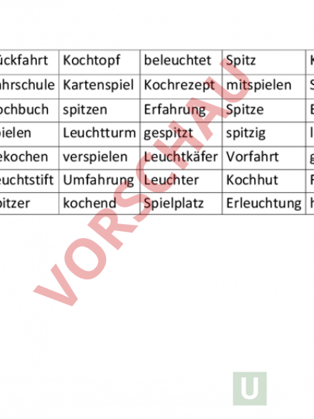 www.unterrichtsmaterial.ch - Deutsch - Grammatik - Wortfamilien zu ...