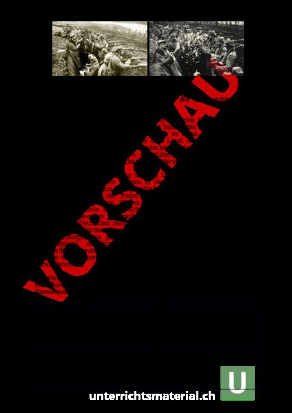 Arbeitsblatt: Erster Weltkrieg Weihnachtsfrieden 1914 - Geschichte ...