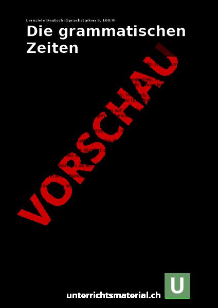 www.unterrichtsmaterial.ch - Deutsch - Grammatik - Lernziele Zeiten ...