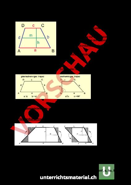 www.unterrichtsmaterial.ch - Geometrie - Flächen - Theorie Trapez ...