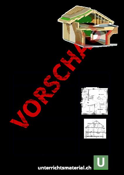 Arbeitsblatt: LU 21 Baupläne - Mathematik - Sachrechnen / Grössen