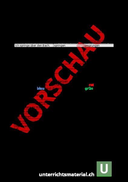 www.unterrichtsmaterial.ch - Deutsch - Grammatik - Verben Zeitformen ...