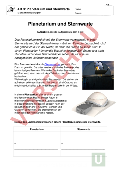 Funky Teleskop Arbeitsblatt Photo - Kindergarten Arbeitsblatt ...