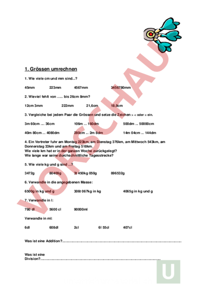 www.unterrichtsmaterial.ch - Mathematik - Mengenlehre - Grössen ...