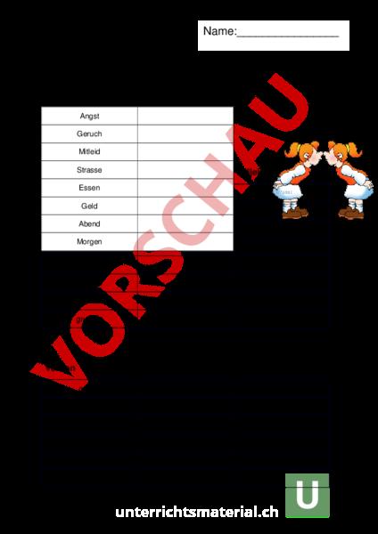 Arbeitsblatt: Synonyme Nomen, Adjektive und Nomen - Deutsch - Wortschatz