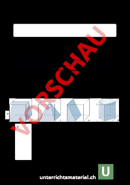 Arbeitsblatt: LU10 Prisma und Pyramide - Geometrie - Körper / Figuren