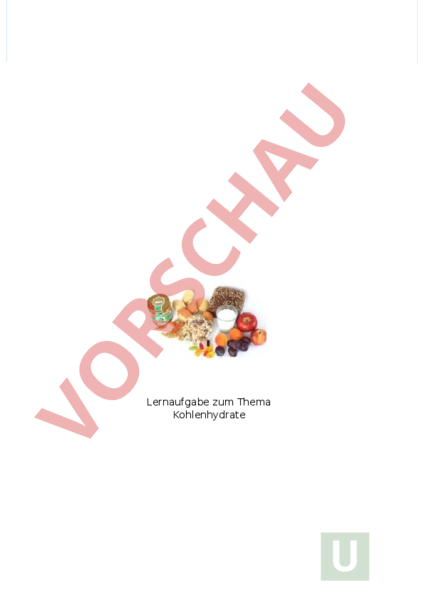 Arbeitsblatt: Lernaufgabe Kohlenhydrate - Biologie - Anatomie ...