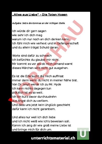 Arbeitsblatt Kommaregeln Deutsch Rechtschreibung