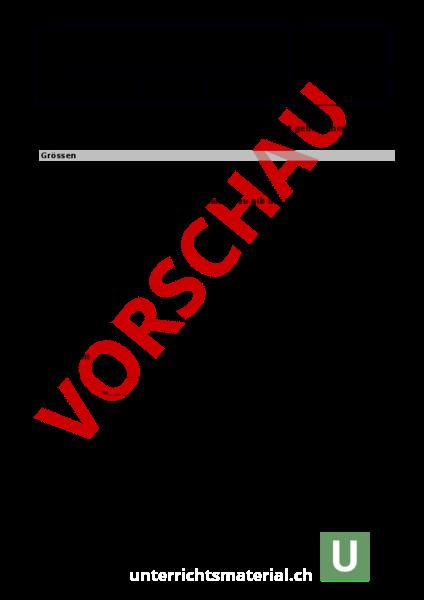 Arbeitsblatt: Mathe - Mathematik - Sachrechnen / Grössen