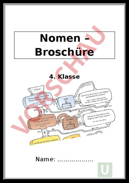 Arbeitsblatt: Nomen Broschüre Teil1-4 - Deutsch - Grammatik