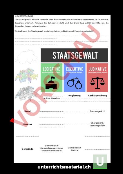 Schön Die Exekutive Arbeitsblatt Galerie - Arbeitsblatt Schule ...