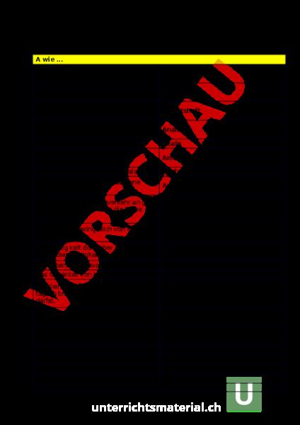 Arbeitsblatt: ABC SRF3 - Deutsch - Wortschatz