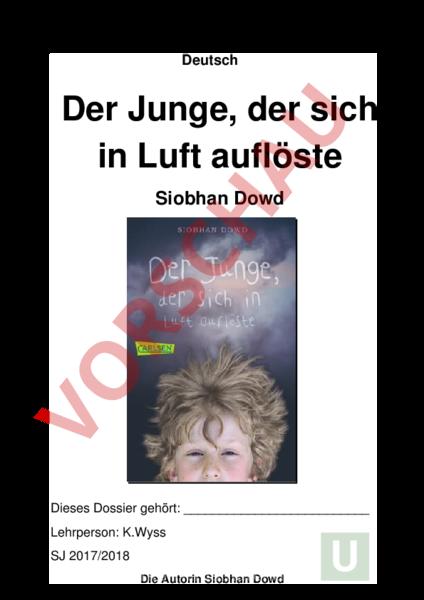 Arbeitsblatt: Arbeitsdossier zum Roman - Deutsch - Leseförderung ...