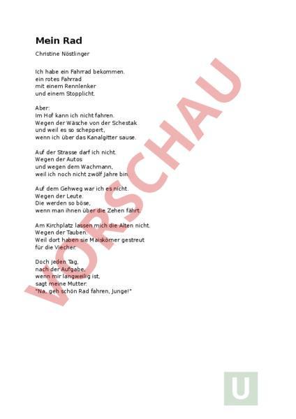 Sport Gedicht