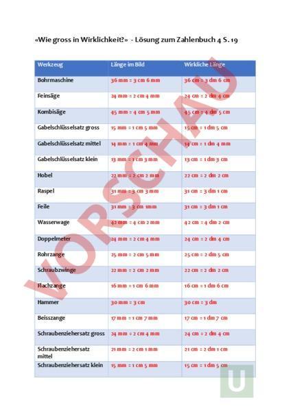 Arbeitsblatt: Lösungen zum Zahlenbuch 4 S. 19 Nr. 1 - Mathematik ...