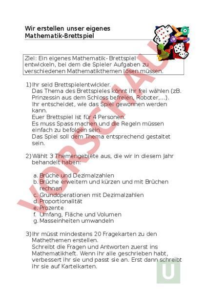 www.unterrichtsmaterial.ch - Mathematik - Gemischte Themen - eigenes ...