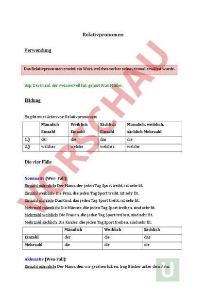 www.unterrichtsmaterial.ch - Deutsch - Grammatik - Relativpronomen ...