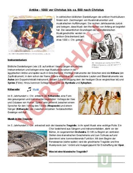 www.unterrichtsmaterial.ch - Rumantsch - Musica - Musikgeschichte ...
