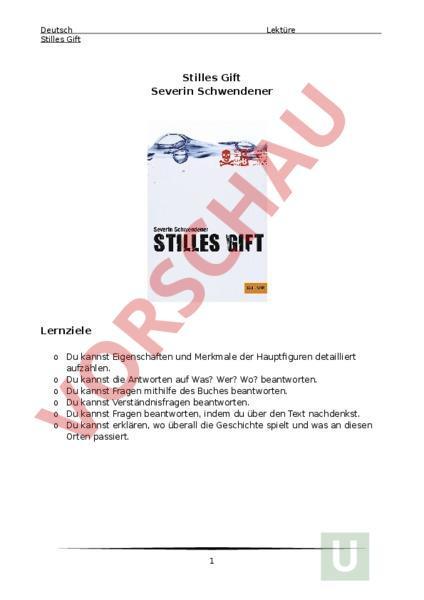 www.unterrichtsmaterial.ch - Deutsch - Gemischte Themen - Das stille ...