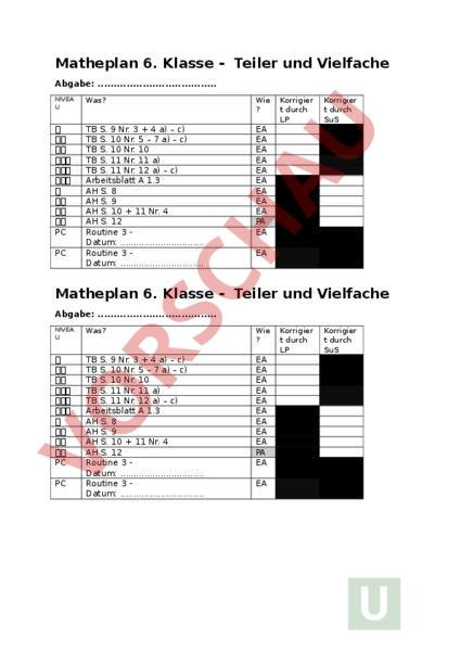arbeitsblatt mathematik 6 matheplan teiler und vielfache mathematik br che dezimalzahlen. Black Bedroom Furniture Sets. Home Design Ideas