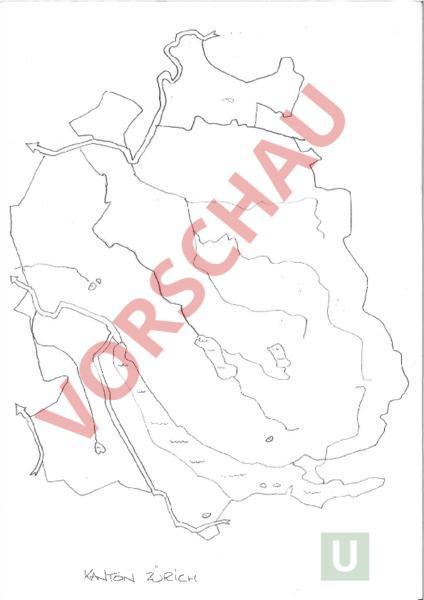 Stumme Karte.Arbeitsblatt Kt Zurich Stumme Karte Geographie Schweiz